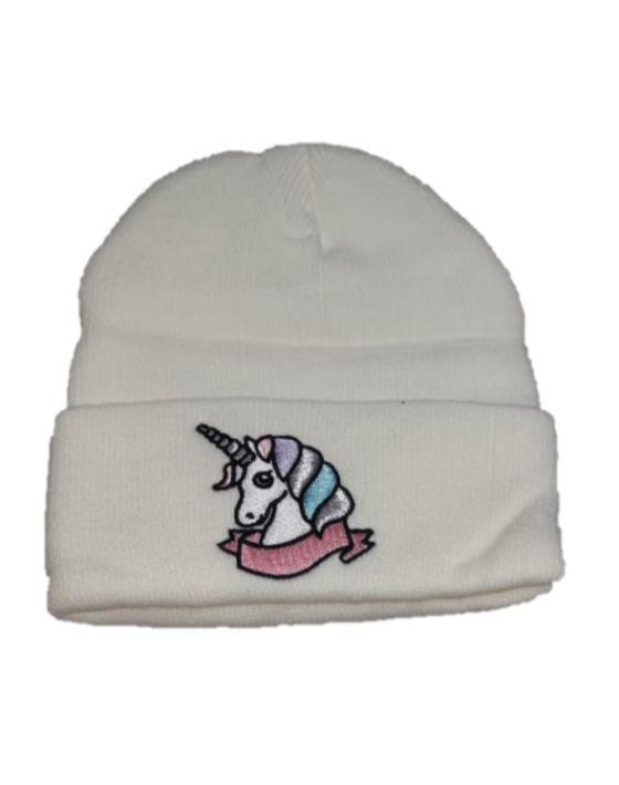 gorro unicornio blanco