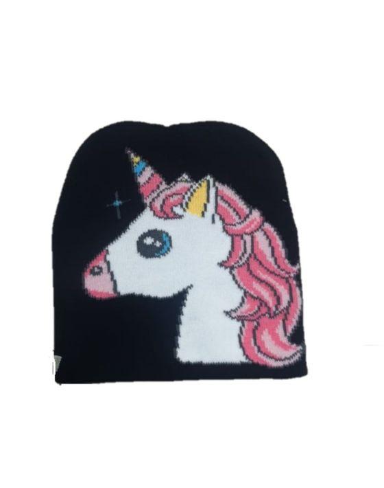 gorro unicornio chico negro