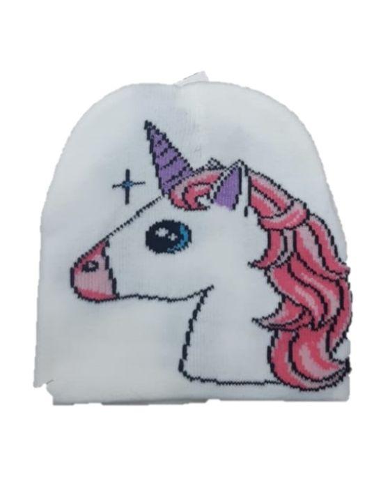 gorro unicornio chico blanco