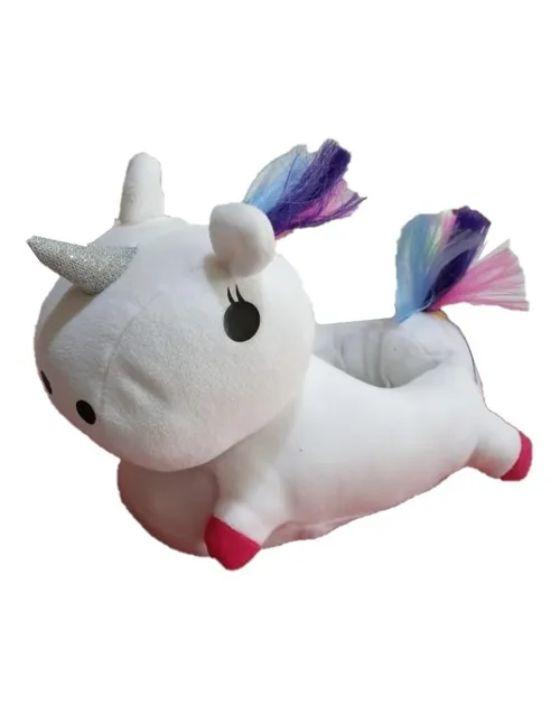 pantuflon unicornio blanco