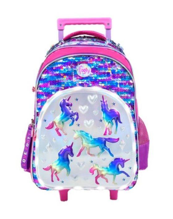 mochila carro unicornio