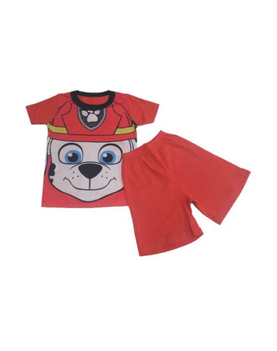 pijama verano paw rojo